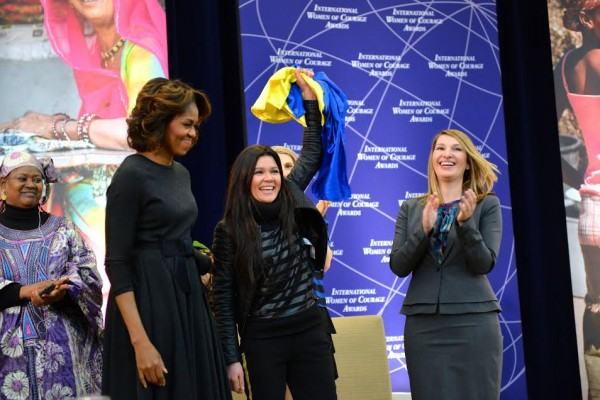 Woman of Courage: Michelle Obama honors Eurovision winner Ruslana