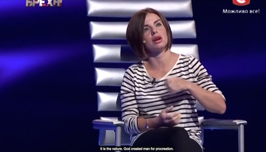 Julia Volkova, faux lesbian member of t.A.T.u., condemns gay men