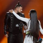 Keep it hot! Hungary's Joci Papai spins amid the flames during first rehearsal