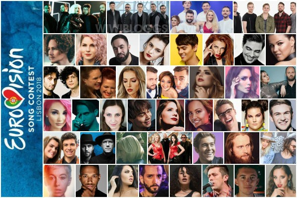 Eurovision 2018 top 43 acts all countries Lisbon