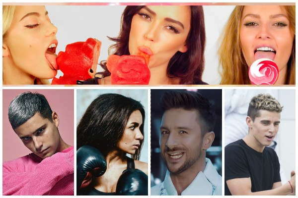 Top Tracks 2016 Eurovision Artists wiwibloggs 15 11 Sergey Lazarev Serebro Eric Saade Donny Montell Aminata