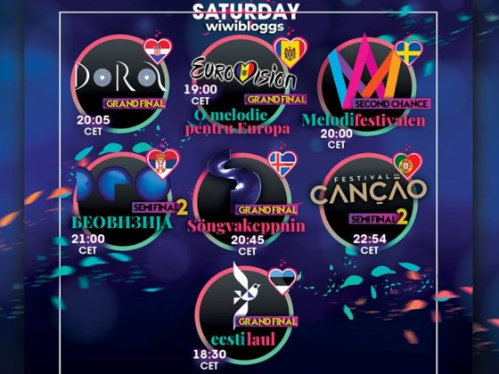 Saturday 29 February Eurovision schedule